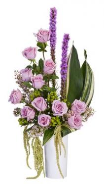 Ocean Breeze Roses in a ceramic vase