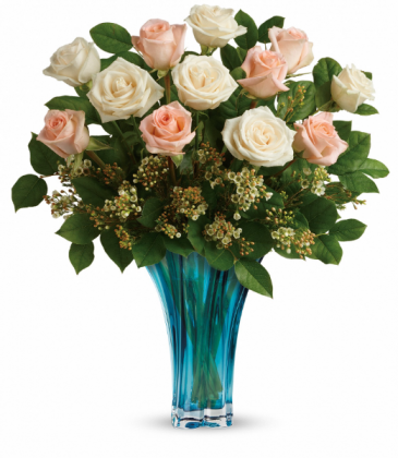 Ocean Of Roses Bouquet All-Around Floral Arrangement