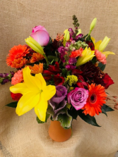 October Fest Fresh Vase Arrangement