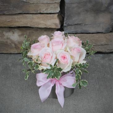 Pink Ladies Pave Rose Arrangment