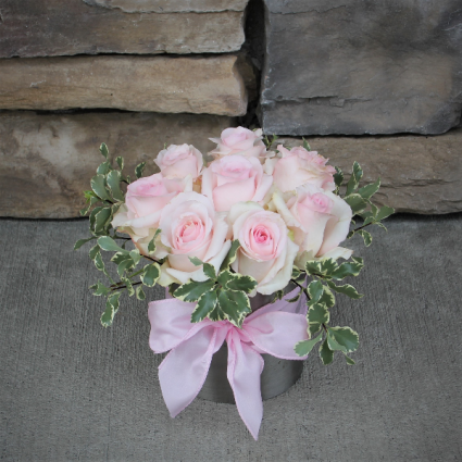 October Ladies Pave Rose Arrangment