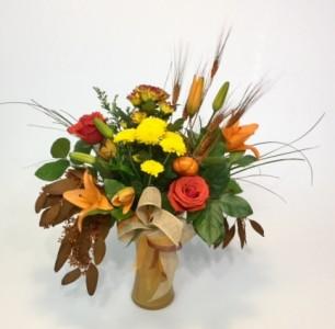 October Offerings Vase Arrangement