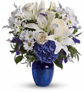 Blooms of Blues Floral Bouquet