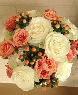 Oh My Peach Bouquet in Coleman, WI | COLEMAN FLORAL & GREENHOUSES