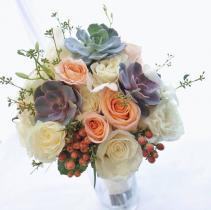 Oh so succulent & roses Bridal Bouquet