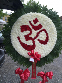 Ohm | Aum Symbol and Sign Funeral Hindu Symbol Om- Funeral Flowers