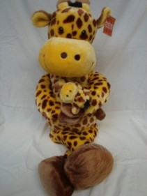 "36"" tall  GIRAFFE holding baby!! So cute!!"
