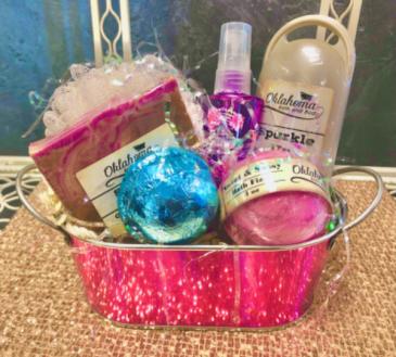 Oklahoma Bath and Body  Gift Bucket