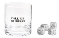 Old Fashion Glass with Ice Stones