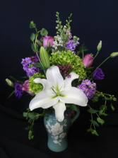 Old Fashioned Garden Pitcher Arrangement