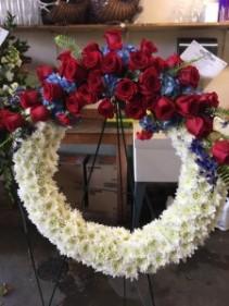 Old Glory Wreath Sympathy Wreath