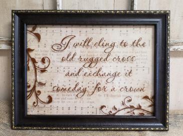 """Old rugged cross"" frame"