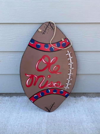 Ole Miss Door Hanger