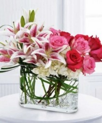OLIVIA'S GARDEN 12 Roses, Lilies & Hydrangeas