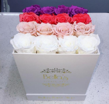 OMBRE BOX ROSES THAT LAST A YEAR