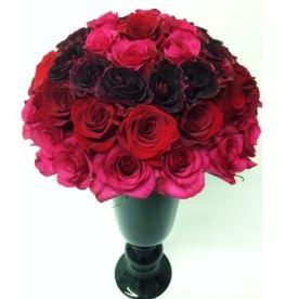 Ombre Rose Vase Roses