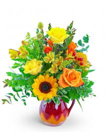 Ombre Sunshine Pitcher Flower Arrangement