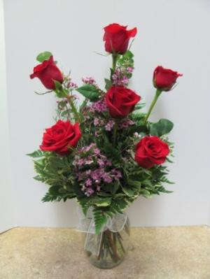 ON  SALE !!!!!!   Just  39.95 Classic Half Dozen Roses 6R in Miami, FL | CYPRESS GARDENS FLOWER SHOP OF MIAMI