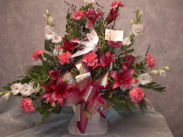 On the wings of a dove funeral arrangement