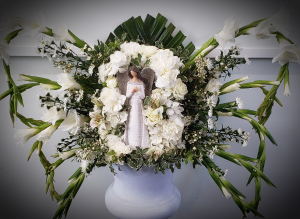 On the Wings of Angels  sympathy arrangement  in Hesperia, CA | FAIRY TALES FLOWERS & GIFTS