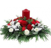One Candle Wonder Christmas Centerpiece