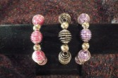 One Wire Wrapped Large Bead Bracelet Wristlet Corsage