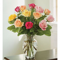 One Dozen Assorted Color Roses $95.95, $110.95