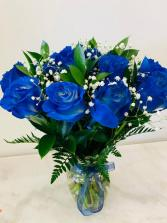 One Dozen Blue Roses