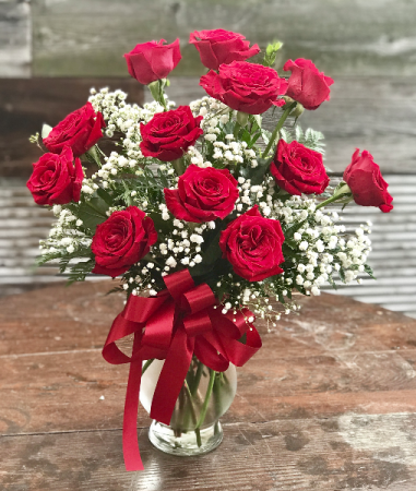 One Dozen Corzone Red Roses