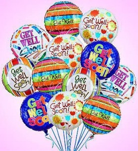 One Dozen Get Well Soon Balloon Bouquet  in Winter Springs, FL | WINTER SPRINGS FLORIST AND GIFTS