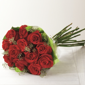One dozen Hand-tied Roses Graduation 2020 SPECIAL (June 23-26th) in Red Lake, ON | FOREVER GREEN GIFT BOUTIQUE