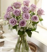 Lavender Rose One Dozen Lavender Roses