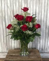 One Dozen Long Stemmed Red Roses