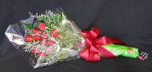 One Dozen Loose  Wrapped Roses with Water tubes