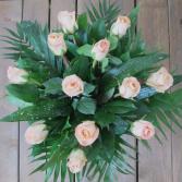 One Dozen Peach Roses $75.95, $85.95, $100.95