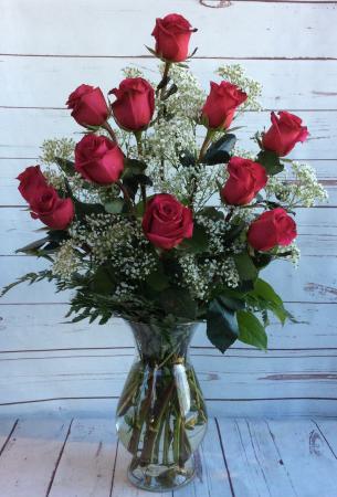 One Dozen Long Stem Pink Floyd Roses