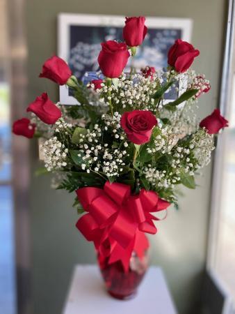 One Dozen Premium Long Stemmed Roses