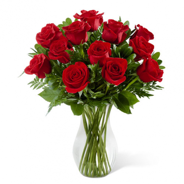 12 Premium Red Roses Bouquet