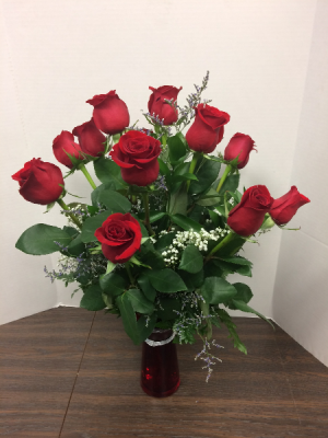 One Dozen Premium Red Roses   in Marengo, IL | A THYMELESS BLOOM
