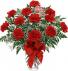 One Dozen Red Carnations