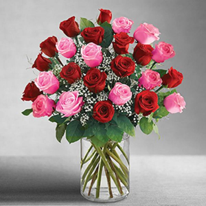 One dozen red n pink. Or two dozen red and pink  I Love You Mom  in Ozone Park, NY | Heavenly Florist