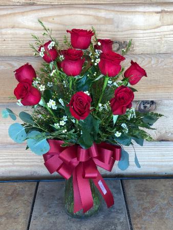 One Dozen Red Rose Bouquet