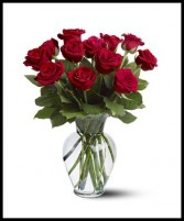 One Dozen Roses Arranged PICK YOUR COLOR!