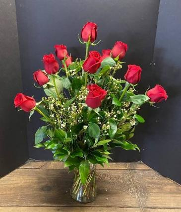 One Dozen Red Roses/MOM-1 Roses