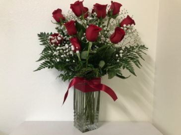 One Dozen Red Roses Valentine Flowers