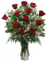 One Dozen Red Roses SAVE $10, Use coupon code on BANNER at the top of page.