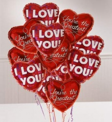 One Dozen Romance  Balloon Bouquet  in Winter Springs, FL | WINTER SPRINGS FLORIST AND GIFTS