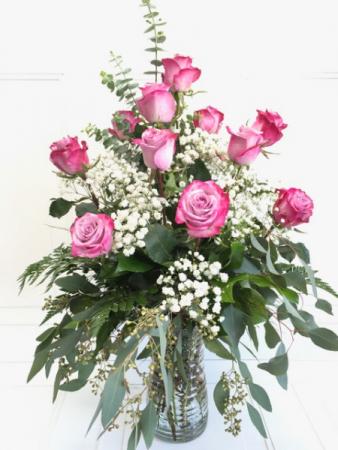 One dozen rose bouquet