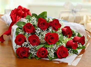 One Dozen Roses - Red Bouquet