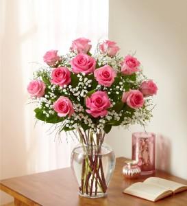 One Dozen Pink Roses  in Clearwater, FL | FLOWERAMA